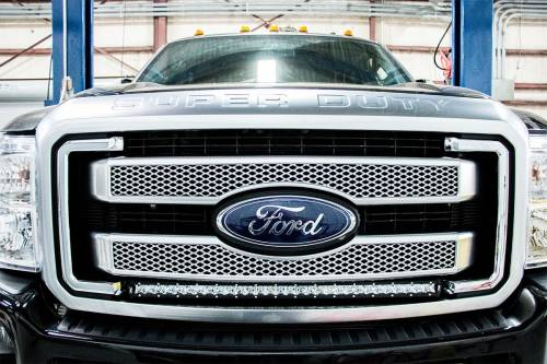 Lighting - Light Mounts / Brackets - Rough Country Suspension - 70531 | Ford 30 Inch Cree LED Grille Kit | Single Light