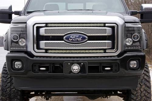 Lighting - Light Mounts / Brackets - Rough Country Suspension - 70532 | Ford 30 Inch Cree LED Grille Kit | Dual Light