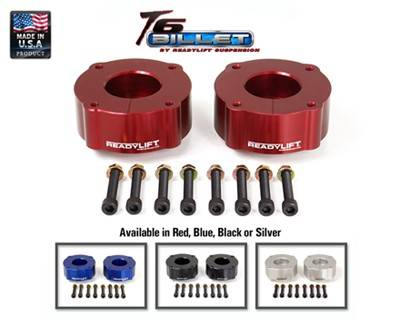 ReadyLIFT Suspensions - 2007-2015 Toyota Tundra 2.4 Inch T6 Billet Leveling Kit - Black