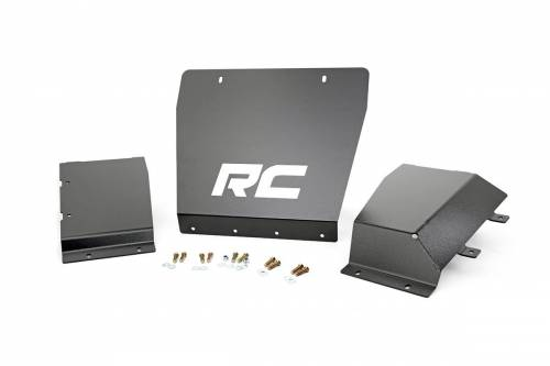 Exterior - Bumpers & Tire Carriers - Rough Country Suspension - 222 | Chevrolet Silverado 1500, GMC Sierra 1500 Front Skid Plates