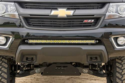 Lighting - Light Mounts / Brackets - Rough Country Suspension - 70536 | 30 Inch LED Light Bar Hidden Bumper Mounts