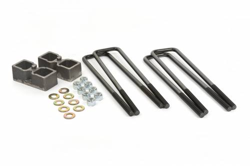 "Suspension Components - Block & U Bolt Kits - Daystar Suspension - Dodge Ram 2500/3500 4WD 94-13 2"" Block Kit, Fits Dana 60 Rear Axle"