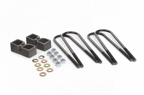 "Suspension Components - Block & U Bolt Kits - Daystar Suspension - Dodge Ram 2500, 3500 11-13 2"" Block Kity, Fits Dana 70 Rear Axle with Top-Mount Overload Springs"