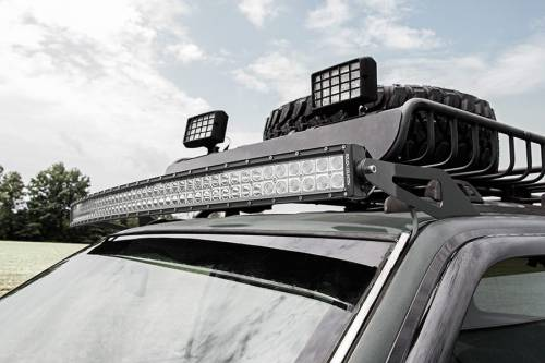 Rough Country Suspension - 70567 | 50 Inch Curved LED Light Bar Upper Windshield Mount