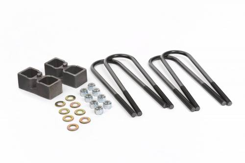 Suspension Components - Block & U Bolt Kits - Daystar Suspension - 1994-2013 Dodge Ram 2500/3500 4wd 2 Inch Rear Block Kit (Dana 70)