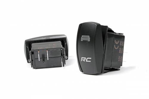 Interior - Switches & Housings - Rough Country Suspension - 709SW | LED Backlit Rocker Switch