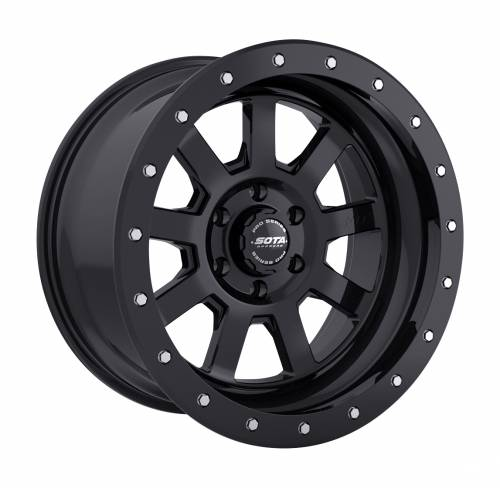 Wheels - SOTA Offroad - SOTA Offroad - 20X9 S.S.D. Stealth Black 5X5.5, 0mm