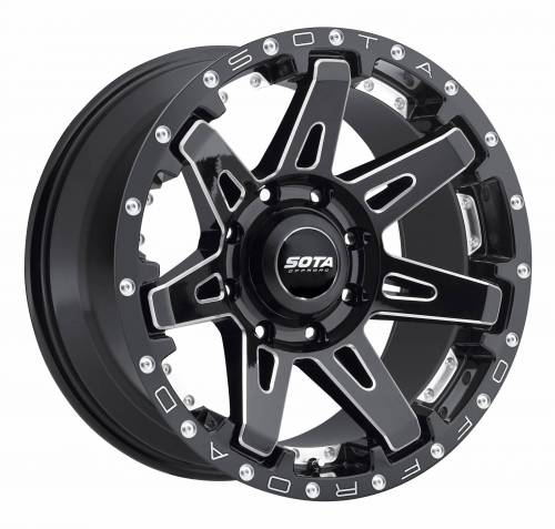 Wheels - SOTA Offroad - SOTA Offroad - 20X10 B.A.T.L. Death Metal Black 5X5, -19mm
