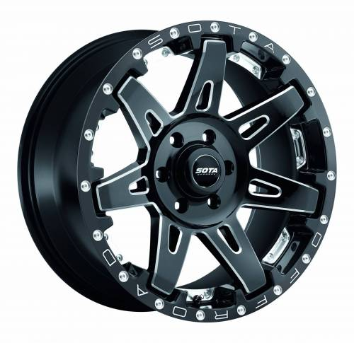 Wheels - SOTA Offroad - SOTA Offroad - 20X10 B.A.T.L. Dealth Metal Black 5X5.5, -19mm