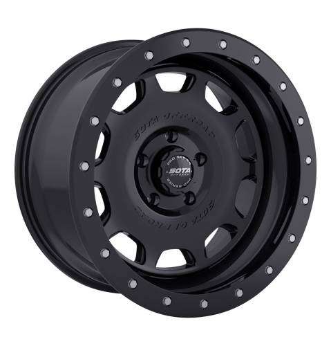 Wheels - SOTA Offroad - SOTA Offroad - 17X8.5 D.R.T. Stealth Black 5X5.5, +6mm