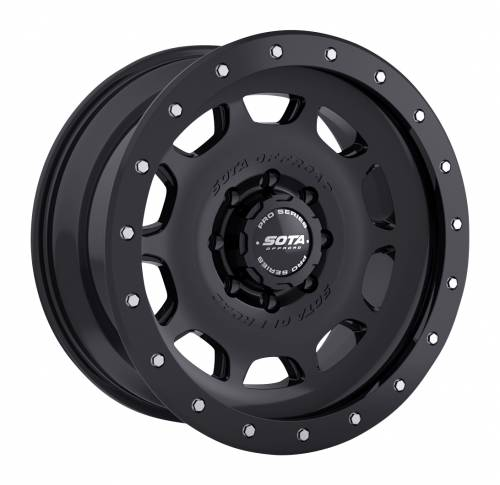 Wheels - SOTA Offroad - SOTA Offroad - 17X8.5 D.R.T. Stealth Black 8X180, +6mm