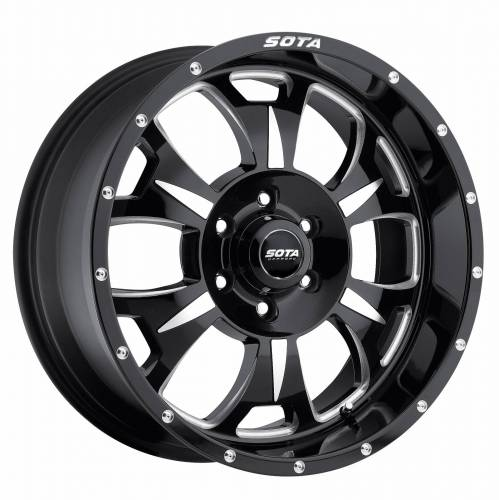 SOTA Offroad - 17X9 M-80 Death Metal Black 6X5.5, 0mm