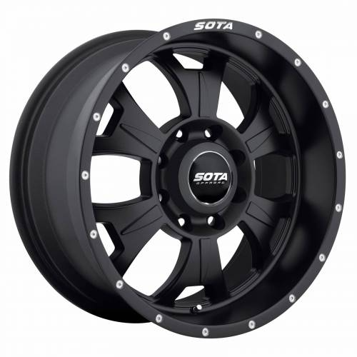 SOTA Offroad - 17X9 M-80 Stealth Black 8X6.5, 0mm