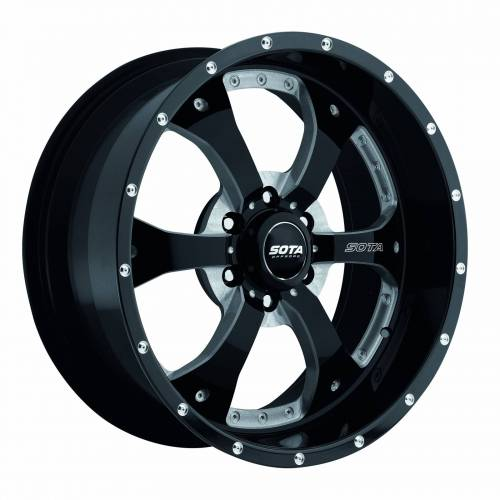 Wheels - SOTA Offroad - SOTA Offroad - 18X9 Novakane Death Metal Black 6X5.5, 0mm