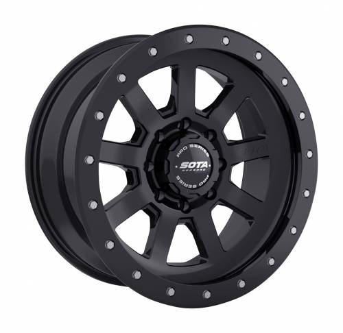 SOTA Offroad - 17X8.5 S.S.D. Stealth Black 8X6.5, +6mm
