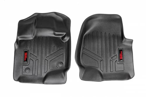 Interior - Floor Mats & Cargo Liners - Rough Country Suspension - 2015-2016 Ford F-150 Pickup Heavy Duty Floor Mats