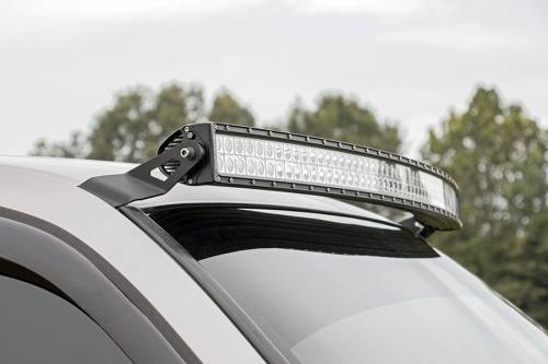 Lighting - Light Mounts / Brackets - Rough Country Suspension - 70539 | 54 Inch Curved LED Light Bar Upper Windshield Mount
