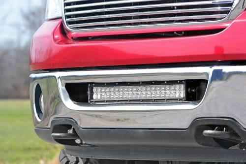 Lighting - Light Mounts / Brackets - Rough Country Suspension - 70527 | 20 Inch LED Light Bar Hidden Bumper Mounts (Ford)