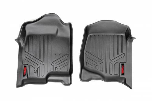 Interior - Floor Mats & Cargo Liners - Rough Country Suspension - M-2114 | Heavy Duty Front Floor Mats | Half Length Floor Console