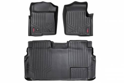 Interior - Floor Mats & Cargo Liners - Rough Country Suspension - M-50912 | Heavy Duty Front & Rear Floor Mats | Super Crew