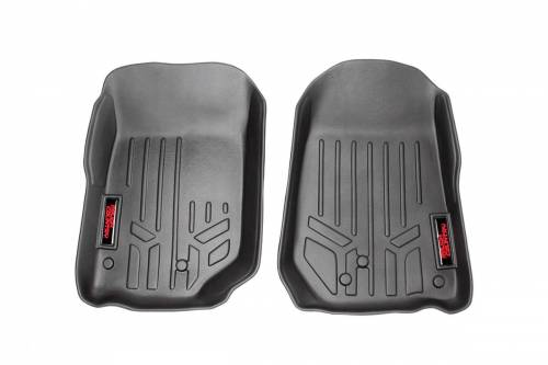 Interior - Floor Mats & Cargo Liners - Rough Country Suspension - M-6141 | Heavy Duty Front  Floor Mats