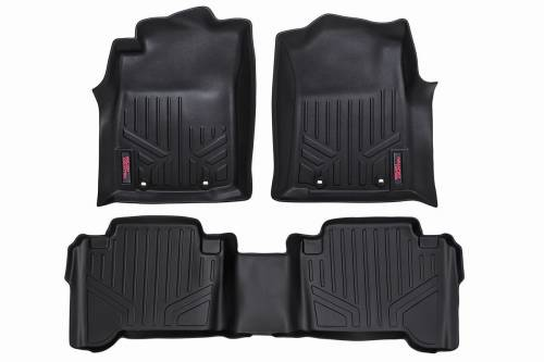 Interior - Floor Mats & Cargo Liners - Rough Country Suspension - 2012-2015 Toyota Tacoma Heavy Duty Floor Mats - Double Cab