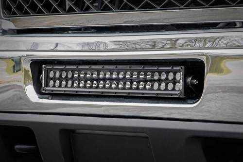 Lighting - Light Mounts / Brackets - Rough Country Suspension - 70522 | 20 Inch LED Light Bar Hidden Bumper Mounts (Chevrolet)