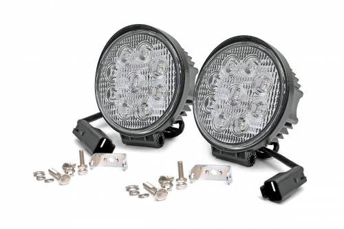 Just Jeeps - JK Wrangler - Rough Country Suspension - 70804 | 4 Inch LED Round Lights