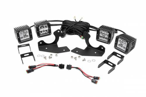 Lighting - LED & Off Road Lights - Rough Country Suspension - 70627 | Chevrolet Fog Light Kit | Chrome Series