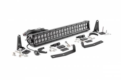 Lighting - LED & Off Road Lights - Rough Country Suspension - 70645 | 2016 Nissan Titan XD 20 Inch LED Bumper Kit | Black Series