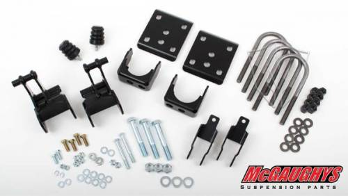 Suspension Components - Flip Kits, C-Notches - Mcgaughys Suspension Parts - 2009-2014 Ford F-150 Pickup 2wd 4 Inch Rear Lowering Kit