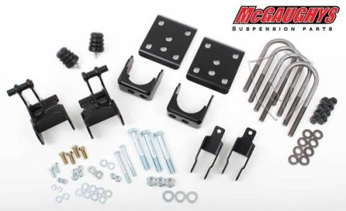Suspension Components - Flip Kits, C-Notches - Mcgaughys Suspension Parts - 2004-2008 Ford F-150 Pickup 2wd 4 Inch Rear Lowering Kit