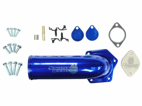 Sinister Diesel - 2008-2010 Ford F-250, F-350 Super Duty 6.4L EGR Delete Kit - With Intake Elbow