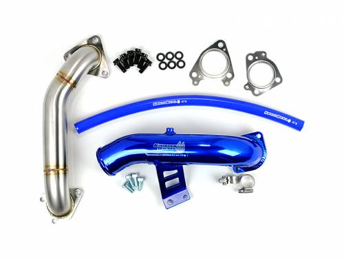 Sinister Diesel - 2004.5-2005 Chevrolet, GMC 2500 HD, 3500 HD 6.6L LLY EGR Delete Kit - With Intake Tube & Passenger Side Up Pipe