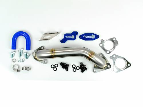 Diesel Performance - EGR Deletes - Sinister Diesel - 2007.5-2010 Chevrolet, GMC 2500 HD, 3500 HD 6.6L LMM EGR Delete Kit - With Passenger Side Up Pipe