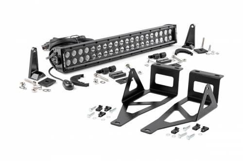 Lighting - LED & Off Road Lights - Rough Country Suspension - 70665 | 2005-2007 Ford F-250, F-350 20 Inch Cree LED Bumper Light Kit | Black Series