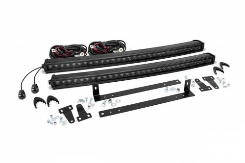 Lighting - LED & Off Road Lights - Rough Country Suspension - 70662 | 2009-2014 Ford F-150 30 Inch LED Light Kit - Dual | Black Series