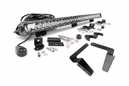 Lighting - LED & Off Road Lights - Rough Country Suspension - 70656 | 2016 Toyota Tundra 30 Inch LED Bumper Kit | Chrome Series