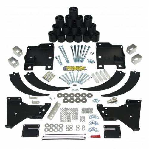 Suspension - Body Lift Kits - Performance Accessories - PA10333 | 3 Inch GM Body Lift Kit (Gas Engine ONLY)