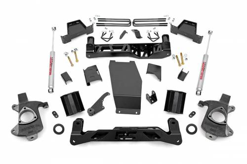Suspension - Suspension Lift Kits - Rough Country Suspension - 172.20 | 7 Inch Suspension Lift | Knuckle Kit | Stamped Steel Control Arm