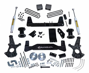 SuperLift - K160 | 2014-2017 Chevrolet, GMC 1500 4wd 6.5 Inch Suspension | Cast Steel Control Arms | Superide Shocks