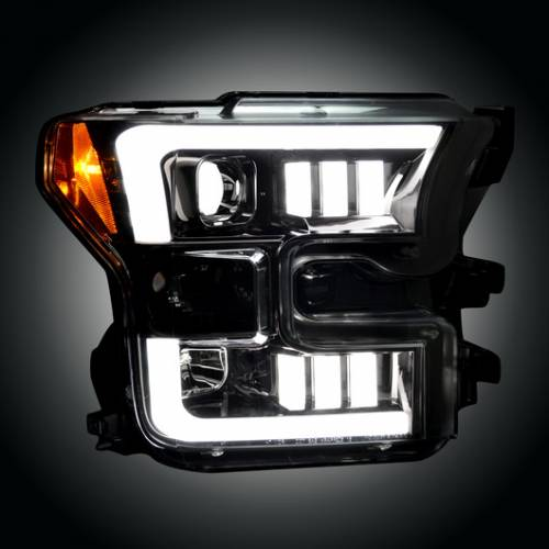 Lighting - Headlights - Recon Truck Accessories - 264290BKC | Projector Headlights | Smoked | with OEM Halogen Headlights