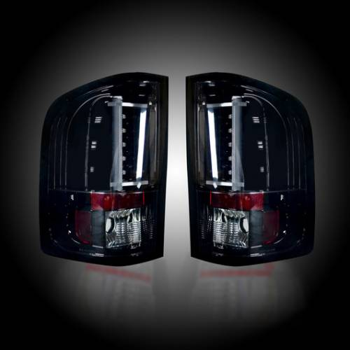 Lighting - LED Taillights - Recon Truck Accessories - 2007-2013 Chevrolet Silverado 1500 LED Tail lights | Smoked