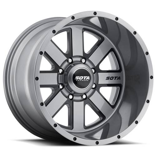 Wheels - SOTA Offroad - SOTA Offroad - 20X10 A.W.O.L. Anthra-Kote Black 8X6.5, -51mm