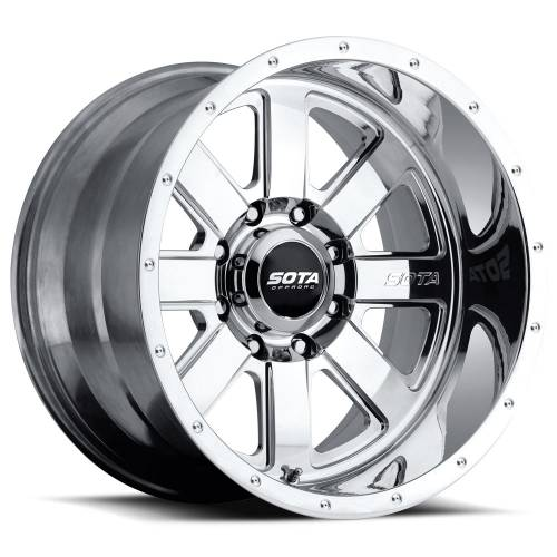 Wheels - SOTA Offroad - SOTA Offroad - 20X10 A.W.O.L. Polished 8X6.5, -25mm