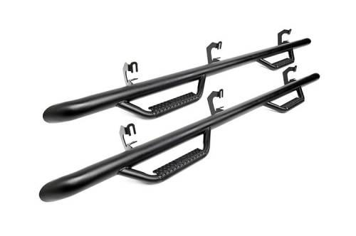 Exterior - Side Steps & Running Boards - Rough Country Suspension - RCD0984CC | Dodge (Crew Cab) Cab Length Nerf Steps