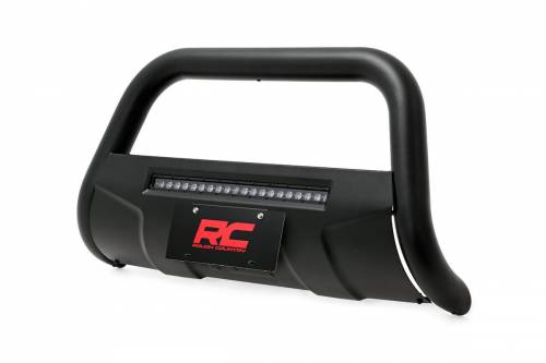 Rough Country Suspension - B-F4041 | Ford Black Bull Bar with 20 Inch LED Light Bar - Image 2