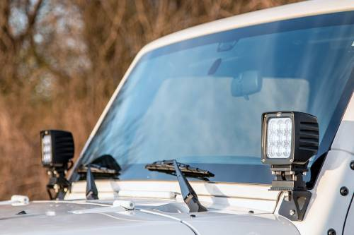 Rough Country Suspension - 6004 | Jeep Lower Windshield Light Mounts - Image 3