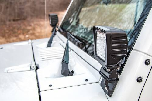 Rough Country Suspension - 6004 | Jeep Lower Windshield Light Mounts - Image 4