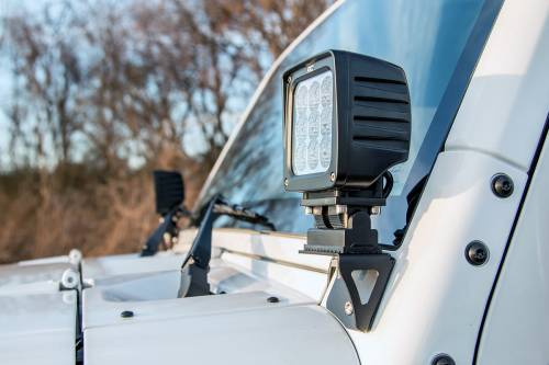 Rough Country Suspension - 6004 | Jeep Lower Windshield Light Mounts - Image 5